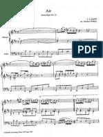 Aria de Bach Arreglo