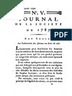 Sur l'Admission Des Femmes Au Droit de Cité (Fascimil)