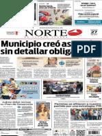 Periódico Norte edición del día 27 de julio de 2014