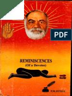 Reminsiscenes of a Devotee - P M Zutschi