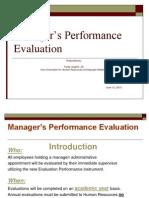 New Management Evaluation Procedure PowerPoint Presentation