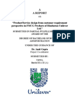 21402803 Project on Hindustan Uniliver Ltd