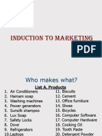 Induction to Marketing