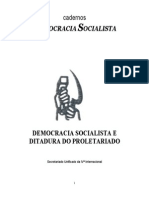Democracia Socialista e Ditadura Do Proletariado