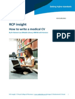 Rcp Insight How to Write a Medical Cv