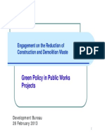 Green Policy in Public Works Projects (2)