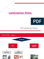 Cosmo Films Presentation - Lamination