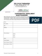 Questionnaire - Regression