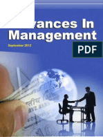 Advances in Management September 2012