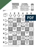 7 Esl Topics Board Game Clothing