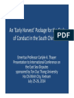 Thayer Early Harvest Package for the Code of Conduct in the South China Sea