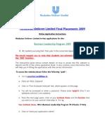 HLL Online Application Instructions BSchool BLTs