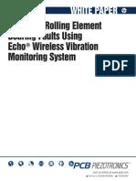 Bearing Fault Detection Using Echo