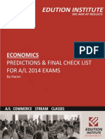 AL 2014 Economics_ Predictions for Exam