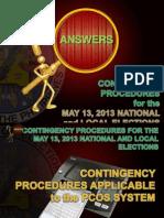 Contingency Procedures (Philippines Elections 2013)