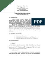 narrative report sample for community service