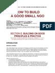 Good Small NGO Principles