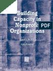 Building Capacity