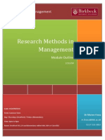 Research Methods in Management Outline April2014