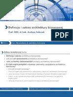 Wprowadzenie do architektury biznesowej