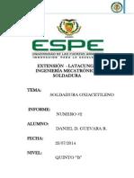 Informe Soldadura Por Oxiacetileno