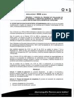 Resolucion Evaluacion de Desempeño 2014
