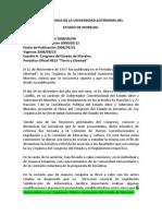 Ley Orgánica de La Universidad Autónoma Del