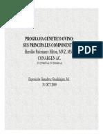 Programa Genetico Ovino. Principales Componentes