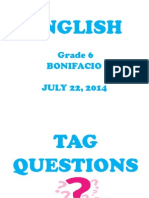 Tag Questions - DO,Does, DId