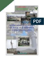 Fuente de Agua Subterranea Lurin - PDF ANA