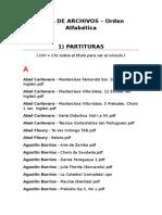 Lista de Archivos (Alfabetica)