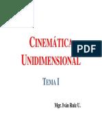 Cinemtaica Unidimensional