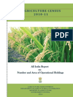 Land Holding Report Agriculture Census 2011