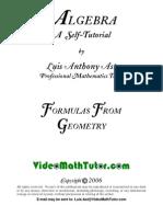 Algebra FormulasGeo