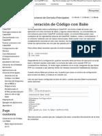 Generación de Código Con Bake — Documentación de CakePHP Cookbook - 1.3