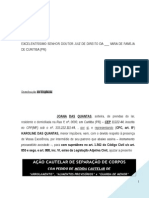 Acao Cautelar Separacao Corpos Liminar Alimentos Provisorios Arrolamento Guarda Menor Uniao Estavel Modelo 330 BC307 2014