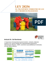 Obligaciones Del Empleador y Trabajadores - Transporte de Materiales Peligrosos