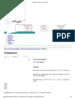 Polinômios - Exercícios Cola Da Web