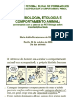Aula 1 - Psicobiologia, Etologia e Comportamento Animal
