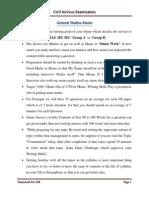 General Studies Paper-1 Mains Guidelines
