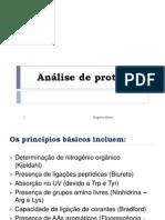 Análise de Proteínas