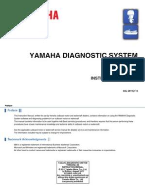 Manual Yamaha Outboard Diagnostics(YDIS-Ver2 00