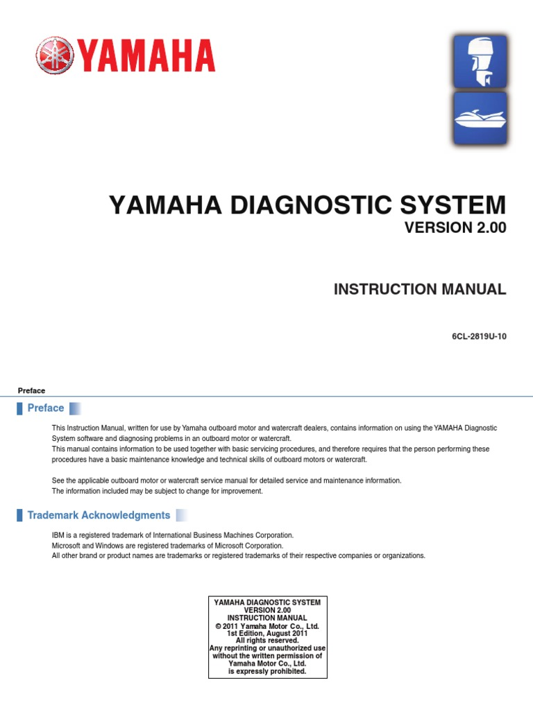 manual yamaha outboard diagnostics ydis ver2 00 microsoft windows rh es scribd com 2001 Yamaha Outboard Motors Manuals yamaha outboard motor service manual pdf