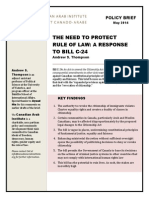 Bill C-24 Policy Brief May 2014