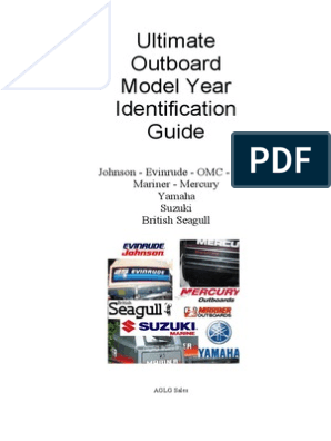 Ultimate Outboard Model Year Identification Guide on