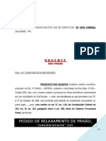 Pedido Liberdade Provisoria Flagrante Maria Penha Violencia Domestica PN229 2014