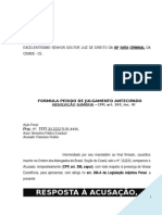 Resposta Acusado Violencia Domestica Lesao Corporal Ameaca PN290