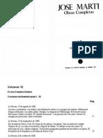 José Martí Pérez Vol 12 Obras Completas