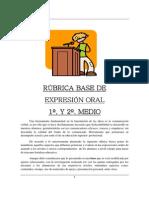 Rubrica Expresion Oral Ensenanza Media 1o. y 2o. Medio