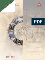 Rapport d Activite0910